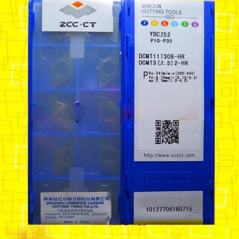 2.5 2-HR  New carbide inserts 10pcs ZCC.CT DCMT11T308-HR YBC251  DCMT3