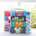 Envío libre danrol pp pantalones bragas del bebé caja de regalo 10 unids/set = 4 pantalón 6 toallas infantiles de algodón desgaste bordar