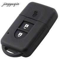 Jingyuqin NEW 2 Button Remote Key Shell With L0G0 For Nissan Micra Xtrail Qashqai Juke Duke