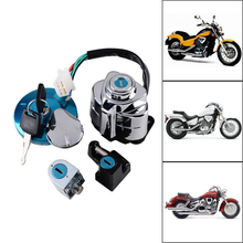 Motorcycle Ignition Switch + Fuel Tank Cap + Helmet & Steering Lock for Honda Shadow VLX 600 400 VT400/750 VLX600 VT400