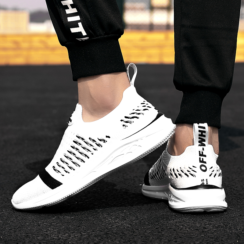 2018 New Mens Shoes Leisure Fashion Sneakers Korean Version of Flying Mesh 5