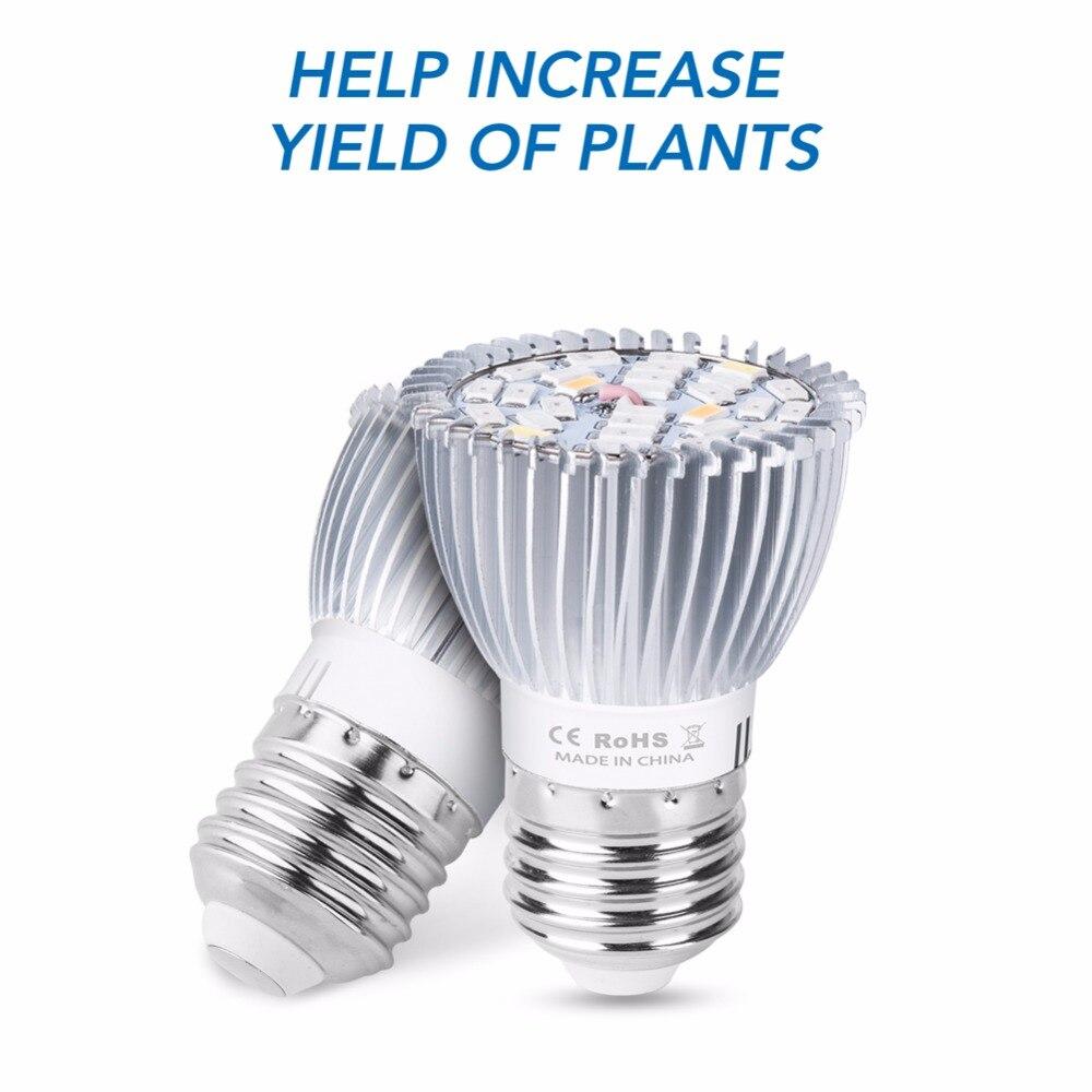 The Best E27 Led Grow Light Full Spectrum Plant Light 18w 28w E14 Indoor Greenhouse Led Bulbs Seedling 220v Led Growing Phyto Lamp 110v Lights & Lighting Led Grow Lights