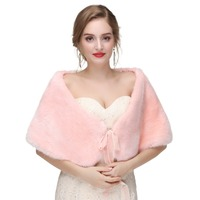 Real Fox Fur Bridal Wraps For Pink Cape Winter Wedding 2018 New Fur Bridesmaids Black Fur Shawl For Wedding Shawl