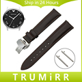 Quick Release Watch Band Butterfly Buckle Strap for Armani AR Men Women 1st Layer Genuine Leather Wrist Bracelet 18mm 20mm 22mm