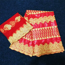 African lace India Bazin Riche Getzner Lace Fabric 2019 With Blouse Embroidered Basin for dress 3L65-1374