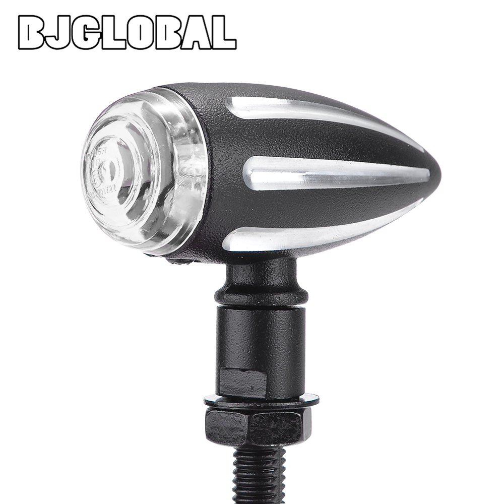 Mini Motorcycle LED Blinker Turn Signals Light Stop Signal Lights Flasher Tail Indicator Stop Lamp Aluminum Housing for Choppers in Covers Ornamental Mouldings from Automobiles Motorcycles