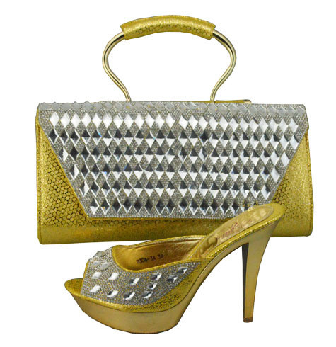 ФОТО Italian Shoes With Matching Bag High Quality For Wedding Women Sandal Fashion African Shoes And Bag Set To Match 1308-34