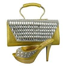Italienische Schuhe Mit Passender Tasche Qualität Für Hochzeit Frauen Sandale Mode Afrikanische Schuhe Und Tasche Set Entsprechen 1308-34