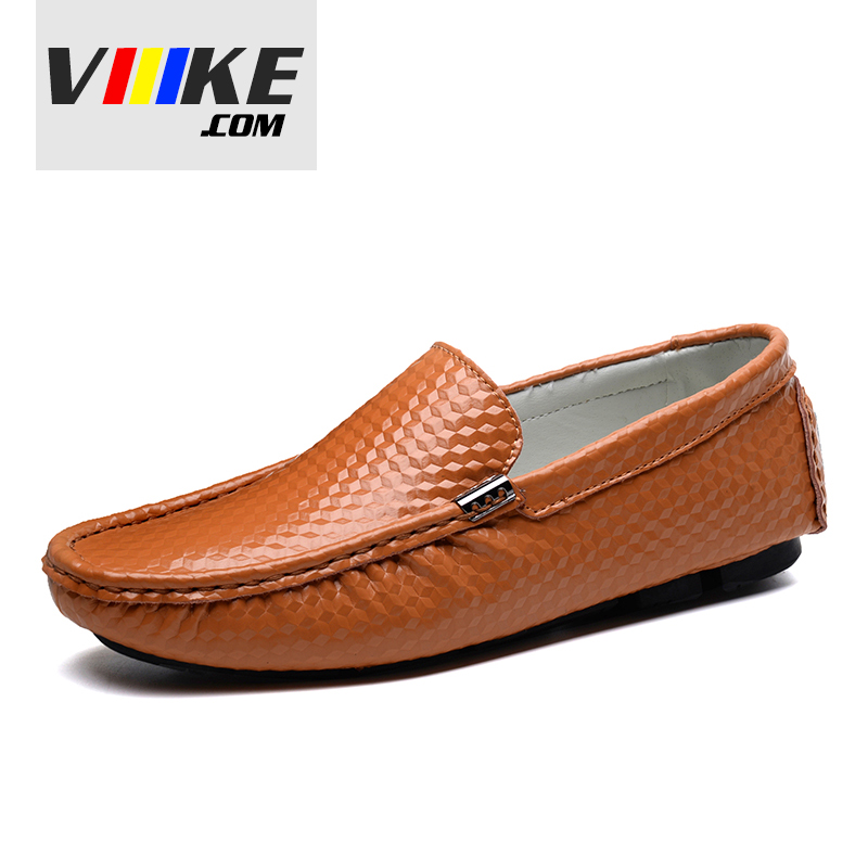 Viiikecom Quality Genuine leather shoes Men Breathable upper summer soft mocassins slip on loafers flats big size casual shoes big size 46 summer breathable mesh loafers men casual shoes genuine leather slip on brand fashion flat shoes soft comfort cool