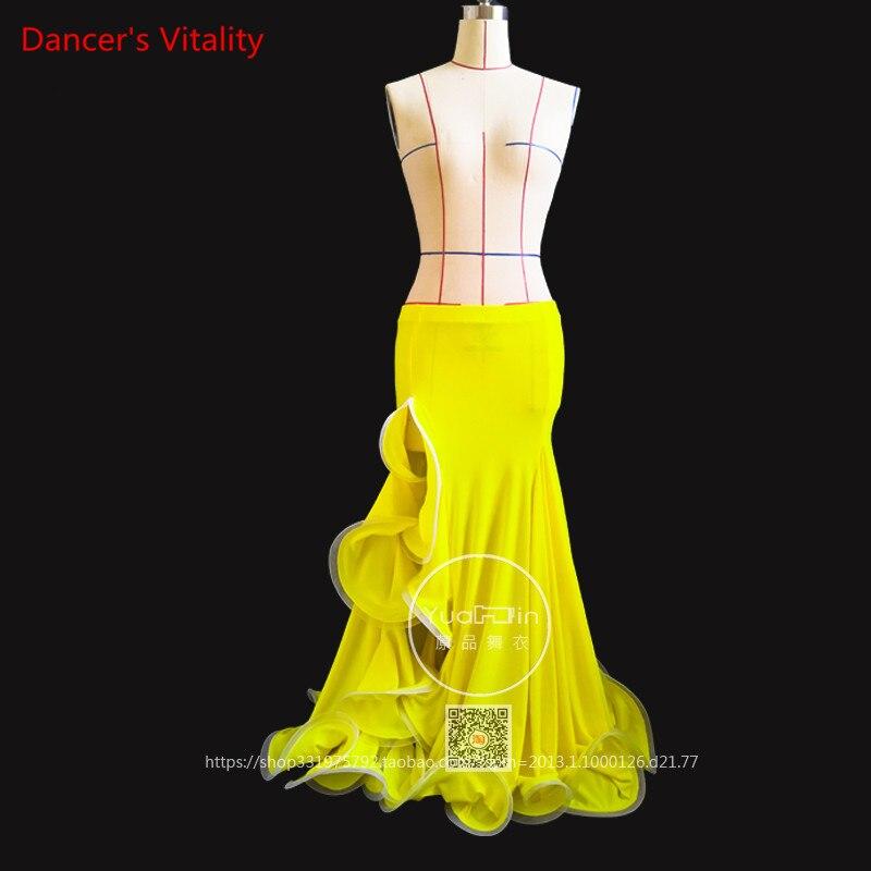 NEW Custom Made Luxury Women Belly Dance Long Skirt Belly Dance Costume Customized Fishtail Skirt Single Skirt