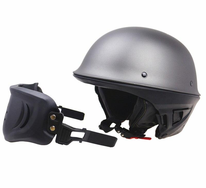DOT New Arrivew casco de motocicleta cascos de medio rostro de motocicleta con máscara desmontable - 5