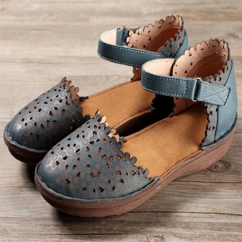 106d96ec92c7d Hook Design Loop Arrival amp  Sandals sneakers 2018 Casual New Shoes  Whensinger Leather Women Summer ...