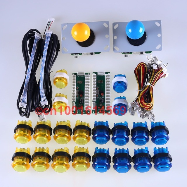 Arcade DIY Kit Parts Zero Delay USB Encoder To PC Joystick 20x LED Arcade Button Wire_640x640 wiring mame arcade buttons product wiring diagrams \u2022