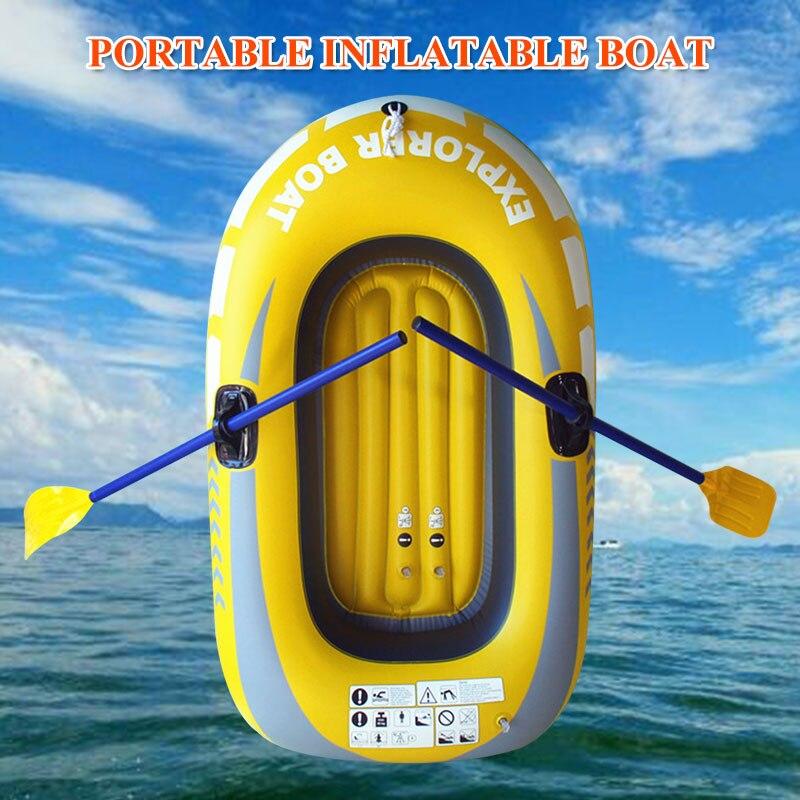 Kayak pratique en plein air bateau en caoutchouc PVC Stream professionnel pêche individuelle