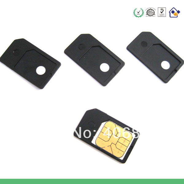 NEW Micro Sim Card Adapters MicroSIM for iPad 3G For iPhone4 With Free Shipping,50pcs/Lot