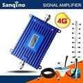 Sanqino Pantalla LCD Repetidor Amplificador de Señal 1800 MHz 70dB de Ganancia Amplificador de Señal De Teléfono Móvil Completo Kit F18 PARA RUSIA ESPAÑA BRASIL