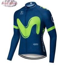 98e35bbb4 2018 Movistar Pro equipo ciclismo chaquetas de lana térmica de invierno  Jersey de la bicicleta NW