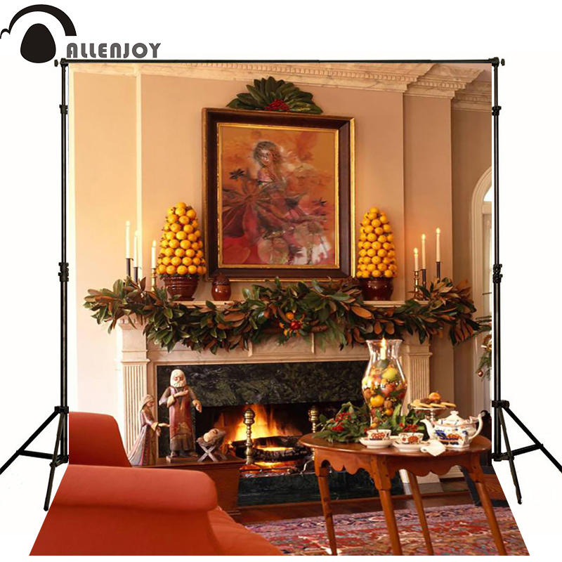 Furnace Table Of Oil Painting Photography Background Zj Enthusiastic Photography Background Christmas 6.5x10ft 2x3m
