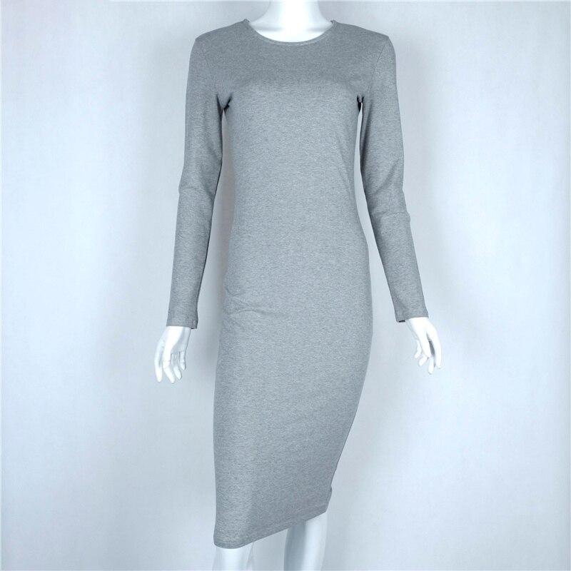 f58082477e8d gagalook Bodycon Winter Dress Women Office Work Long Sleeve Sexy ...