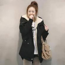 GZDL Fashion Plus Size Women Long Sleeve Thicken Fleece Hooded Parka Zipper Overcoat Casual Winter Coats Jackets Outwear CL0098