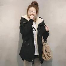 GZDL Fashion Plus Size Women Long Sleeve Thicken Fleece Hooded Parka Zipper Overcoat Casual Winter Coats Jackets Outwear CL0098