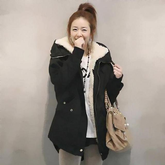GZDL Fashion Women's Long Sleeve Thicken Fleece Coat Hooded Parka Zipper Overcoat Casual Winter Coats Jackets Outwear CL0098