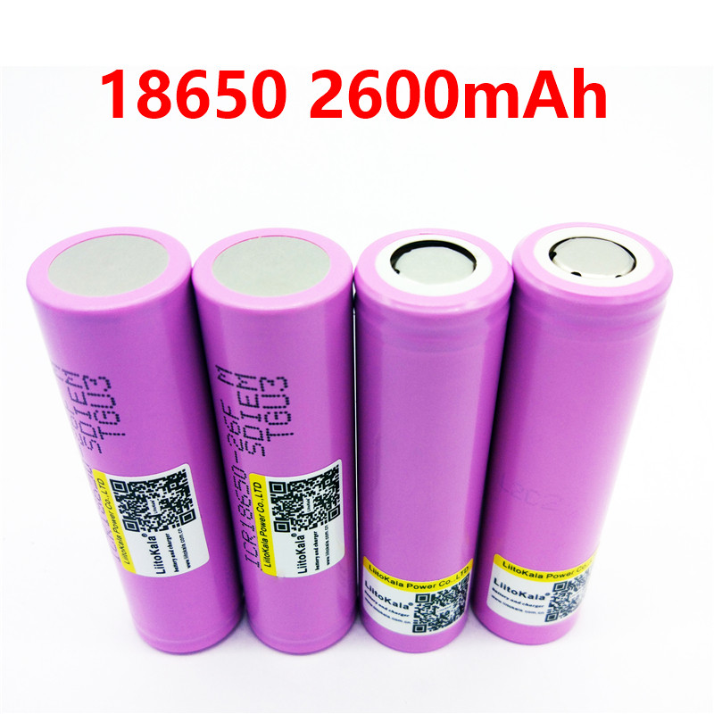 4PCS 3.7V 18650 2600mAh Original 18650 2600mAh rechargeable Battery ICR18650-2600F safe batteries Industrial use