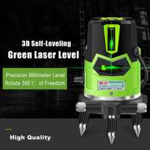 2 Cross Lines Laser Level Green 360 Degree Rotary Self- leveling Laser Level in Box Without Bracket Diagnostic Tools high accuracy new self leveling rotary rotating laser level 500m range