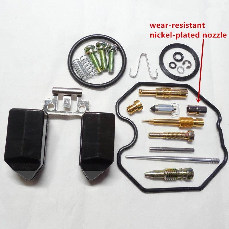 (Envío gratis) Keihin carburador PZ30 kits de reparación CG250CC ATV motocicleta reparación bolsa (con boquilla niquelada resistente al desgaste)
