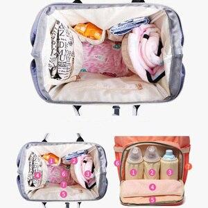 Image 2 - 기저귀 가방 어머니 배낭 대용량 여행 엄마 젖은 기저귀 가방 토트 출산 배낭 베이비 케어 유모차 가방 주최자