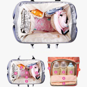 Image 2 - Diaper Bag for mother backpack Large Capacity travel Mom wet nappy bags Tote maternity backpack Baby care stroller Bag organizer