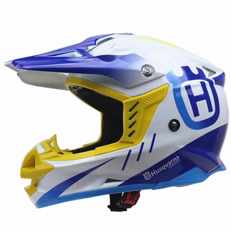 Husvarna Casque De Moto ATV UTV Moto Cross casque DOT ECE approuvé Hors Route casque S, M, L, XL, XXL disponible