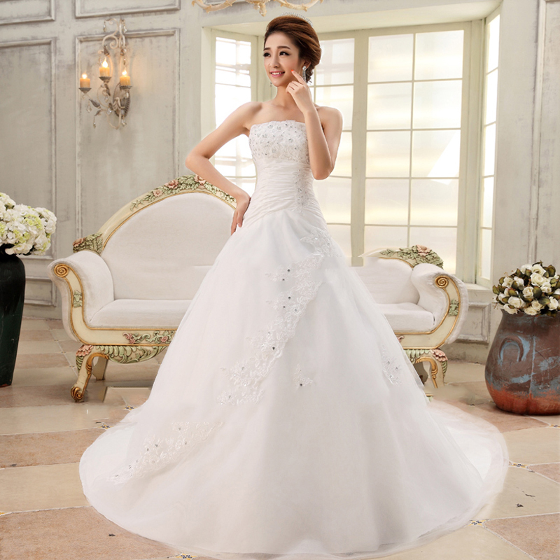 2017 Long Train Lace Wedding Dresses Princess Bride Sexy Plus Size Vintage Belt Ball Gown Wedding Free Shipping