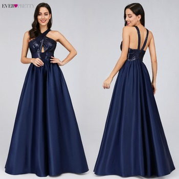 Prom Dresses Long Ever Pretty Sexy Backless Sleeveless Sequined Formal Dresses EP07858NB Elegant Party Gowns Robe De Bal Fille 4