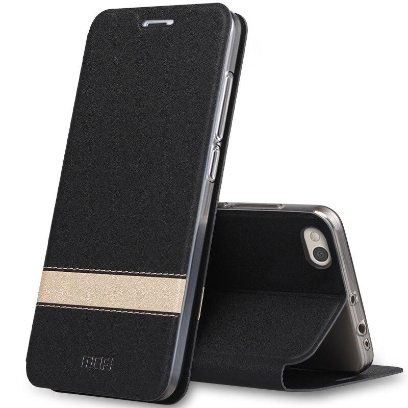 Nova Moda Caso MOFI Original para Xiao mi 5X luxo Magnetic Couro pu Caso Flip Telefone Para Xiao mi mi 5S 5S Mais caso Tampa Traseira