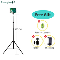 TRUMAGINE Universal Portable Aluminum Stand Mount Digital Camera Tripod For Phone IPhone With Bluetooth Remote Control