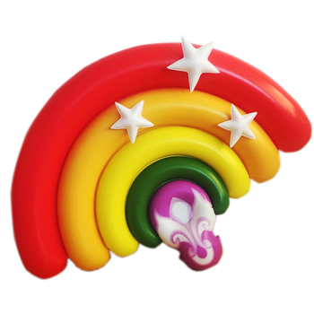 160cm Giant Rainbow Pool Floats Water Inflatable Floating Bed Mat Air Mattress Lounge Summer Water Party Pool Toys Swimming Ring