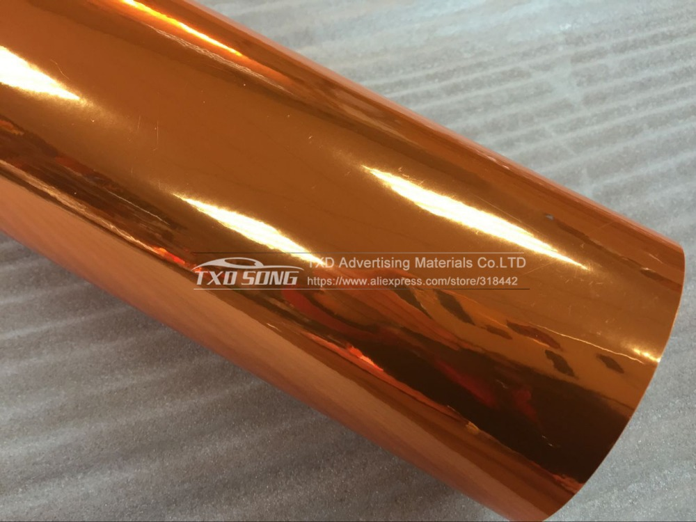 Image 3 - Premium quality High stretchable orange mirror film Chrome Mirror flexible Vinyl Wrap Sheet Roll Film Car Sticker Decal Sheet-in Car Stickers from Automobiles & Motorcycles