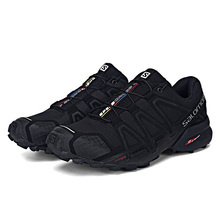 Haute Qualité Salomon Hommes Chaussures Speed Cross 4 CS sneakers Hommes Cross-Country Chaussures Noir Speedcross 4 Jogging Chaussures de Course Chaussures(China)