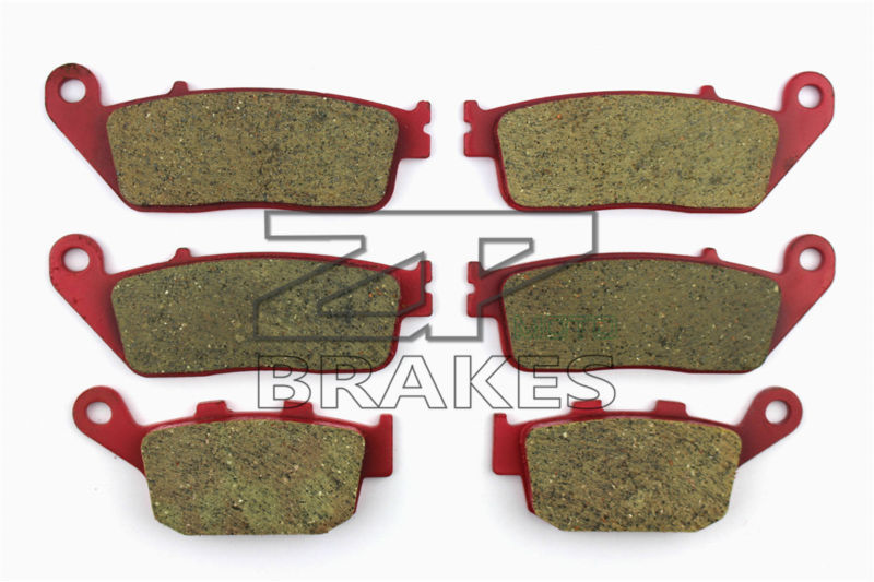 Motorcycle Brake Pads Ceramic Composite For TRIUMPH 675 Street Triple (Naked) 2007-2012 Front + Rear OEM New High Quality ZPMOTO for lifan motorcycle lf150 9m new street fighter new rear brake accessories