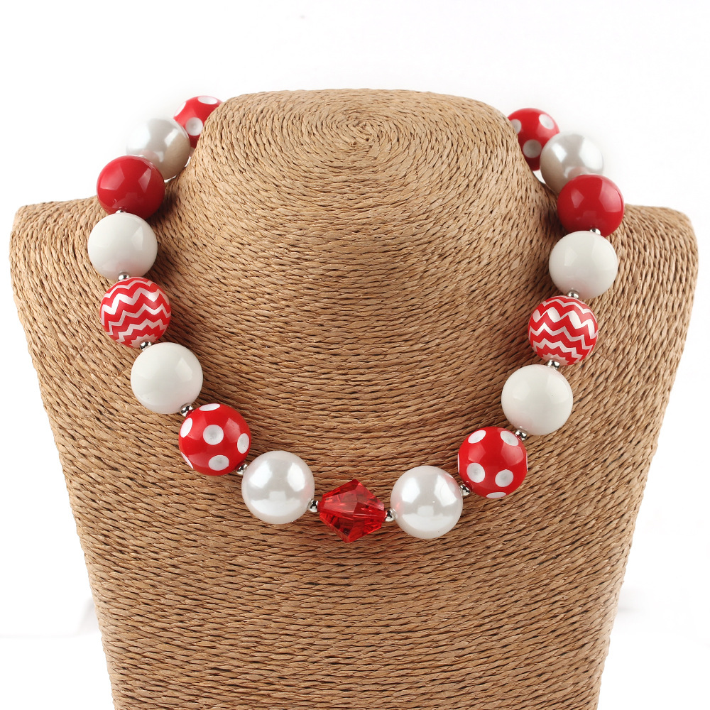Hot selling child girl's bubblegum necklace fashion lovely ts