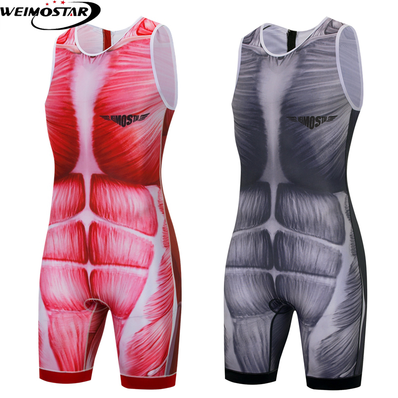 Triathlon Cycling Jersey Tight Suit Mens One Piece Compressed Bicycle Sports Clothes Riding Clothing Set New Running Swimming