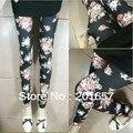 Wholesale and Retail fashion rose flower printing Elastic legging women's egging 85cm long 1pc
