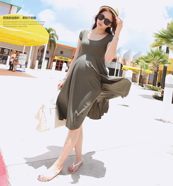 2016 maternity Cotton Maternity Dresses Blouses Shirts Clothing Pregnant Dress Top Clothes For Pregnant Women Plus Size Fashion