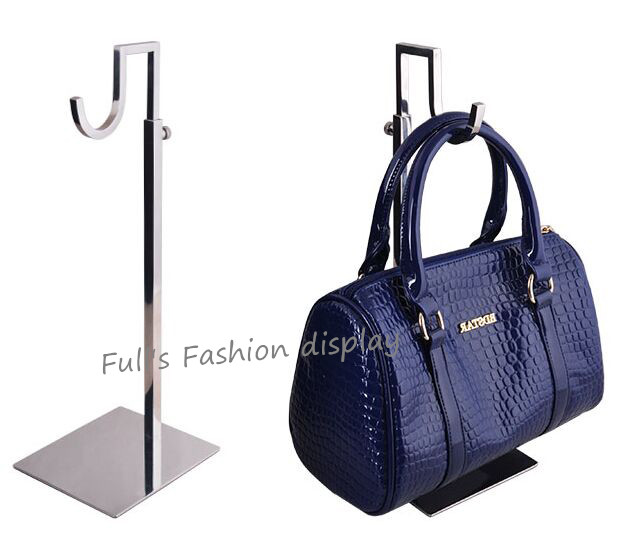 Painstaking High Quality Bent Hook Type Mirro Stainless Steel Women Bag Display Holder Wig/silk Scarf/purse/handbag Display Stand Rack Carefully Selected Materials