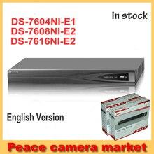 Original Hikvision NVR 16CH DS-7604NI-E1,DS-7608NI-E2, DS-7616NI-E2 Network Video Recorder 4 Channel 8 Channel NVR