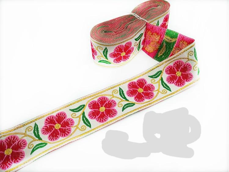 "1 yd  cherry blossom Japan 5//8/"" inch Sakura FLOWER pattern white satin RIBBON"