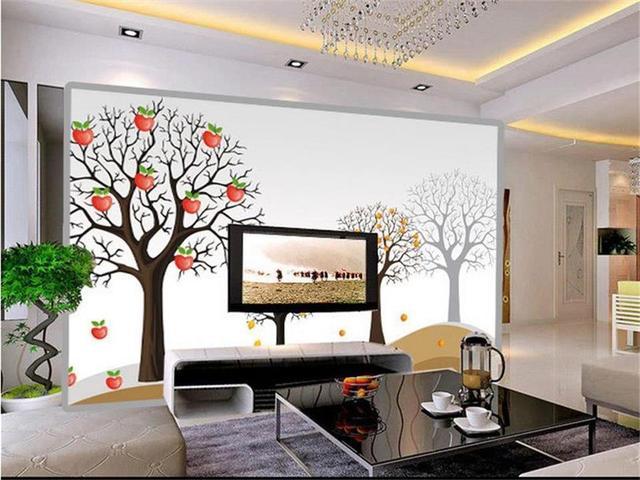 Boom In Woonkamer : 3d behang foto behang custom size muurschildering woonkamer abstract