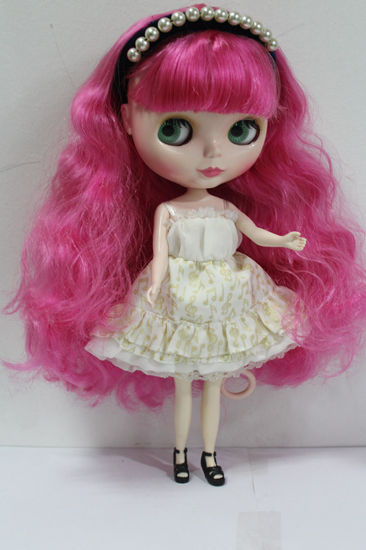 Free Shipping big discount RBL-140DIY Nude Blyth doll birthday gift for girl 4colour big eyes dolls with beautiful Hair cute toy free shipping bjd joint rbl 415j diy nude blyth doll birthday gift for girl 4 colour big eyes dolls with beautiful hair cute toy
