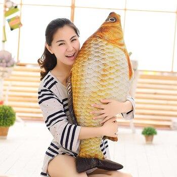 60-120 سنتيمتر الكرتون وسادة 3D محاكاة الحيوان أفخم لعبة محشوة الكارب دمى السحر الأسماك لينة وسادة للأطفال عيد ميلاد هدية